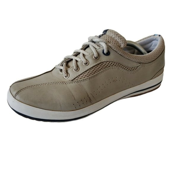 Keds Womens Sneaker Shoes 8.5 Leather Tan Lace Up